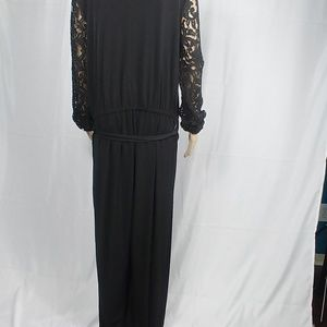 MICHEAL KORS XL LONG SLEEVE BLACK JUMPSUIT